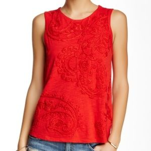 Lucky Brand | embroidered floral tank